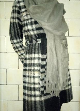 Пальто демисезонное mango шерсть валяная размер 48 или l