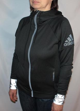 Кофта худи adidas черная рефлектив размер м
