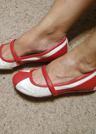 Туфли осенние весенние кожаные натуральные лодочки балетки