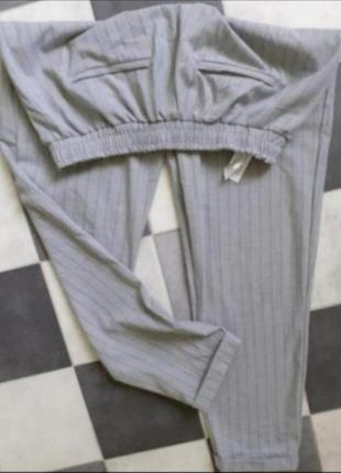 Серые брюки джоггеры джогеры штаны bershka