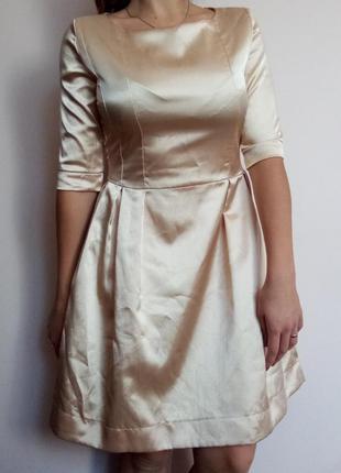 Атласне плаття/ платье атласное