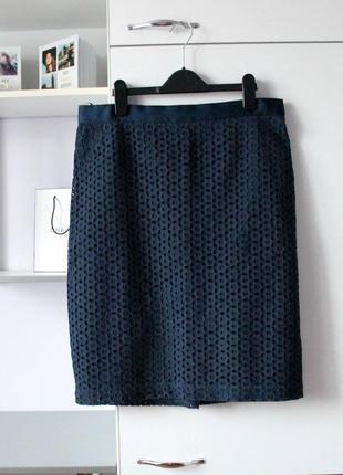 Хлопковая кружевная юбка от tu