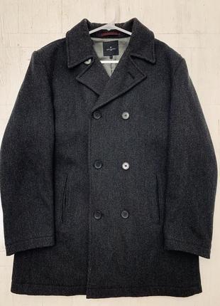 Темно-серое мужское пальто jeff banks
