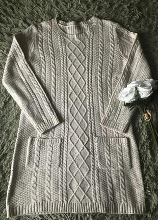 Тепла в'язана сукня на зиму