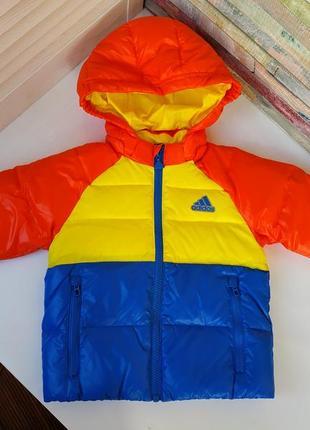 Новая куртка пуховик adidas