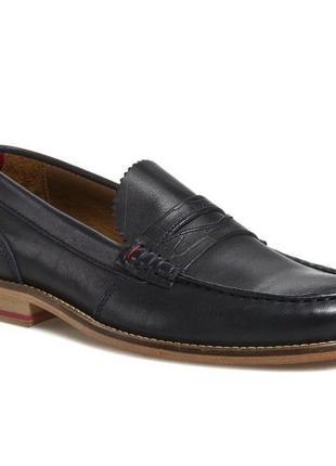 Мужские кожаные туфли лоферы с кожаной подошвой tommy hilfiger