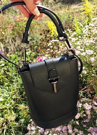 Стильная сумка бочонок , очень вместительная ! натуральная кожа