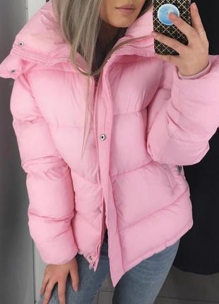 Bik bok куртка бомбер новая  размер s розовая
