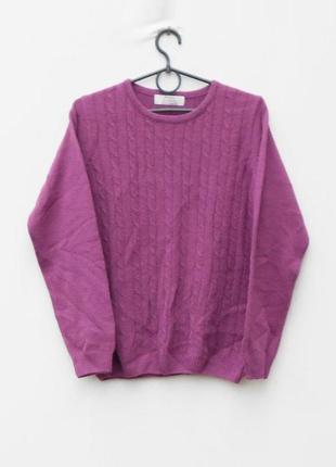 Осенний зимний вязаный свитер с косами с длинным рукавом honor millburn