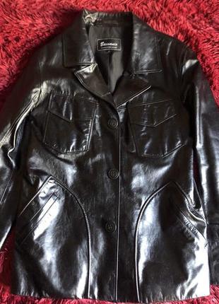 Кожаная рубашка- пиджак
