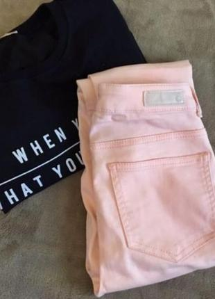 Женские пудровые штаны