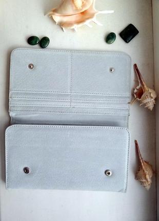 Замшевый кошелек портмоне клатч новый серый подарок на новый год