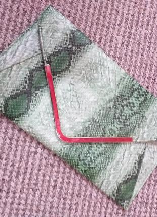 Клатч конверт под  змею