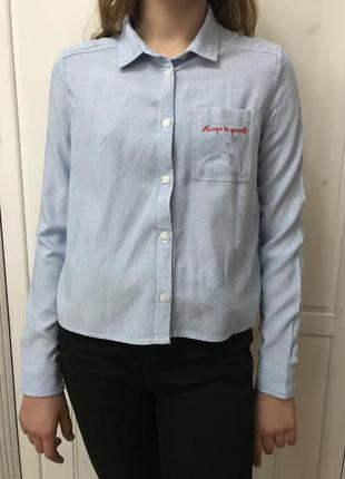 Модная легкая вискозная рубашка h&m на девочку, возраст 11-12 лет, рост 152