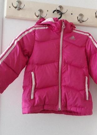 Adidas зимняя куртка пуховик 4 - 5 лет 110 см