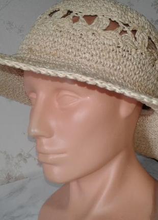 Летняя шляпа с полями panama jack osfa