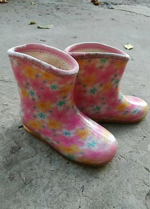 Силиконовые сапожки для дождливой погоды