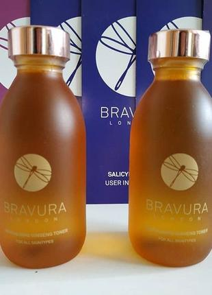 Очищающий тоник с календулой и 13% aha кислотами(молочная и гликолевая)  bravura london