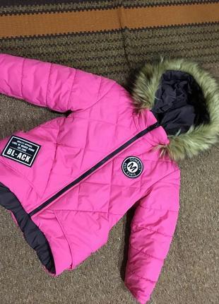 Дуже гарна куртка на дівчинку 2-4 роки