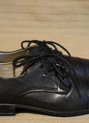Формальные черные кожаные туфли lasocki young teddy польша 33 р.