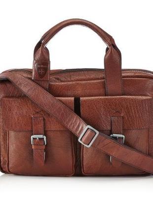 Мужская кожаная сумка strellson greenford softbriefcase 4010001269 деловая новая недорого