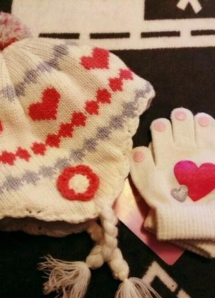 Набір шапка рукавички dopo dopo 62-68