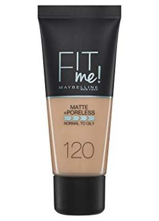 Maybelline fit me matte and poreless foundation - 30 ml, 120 classic ivory