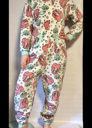 Плюшевая пижама,слип, комбинезон