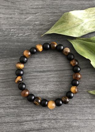 Браслет из натуральных камней, браслет із натурального каміння, мужской браслет