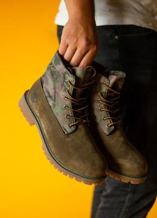 🌠timberland military brown🌠 крутые осенние мужские ботинки тимберленд милитари