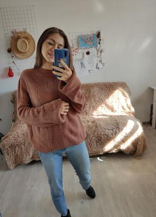 Primark пастельный свитер с объемными рукавами фонариками, свободная кофта, джемпер