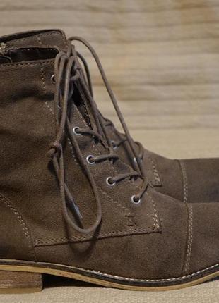 Отличные утепленные высокие коричневые замшевые ботинки spm shoes голландия 39 р.
