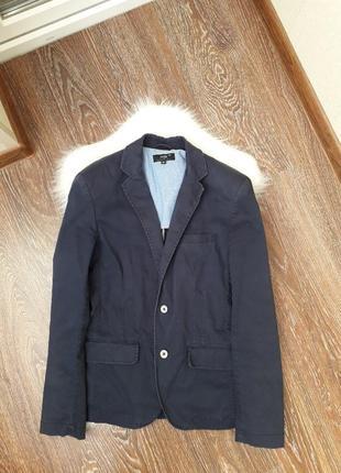 🙋♂️темно-синий мужской пиджак casual