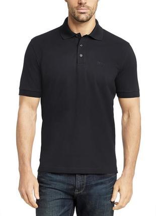 Поло/футболка hugo boss pima cotton black polo