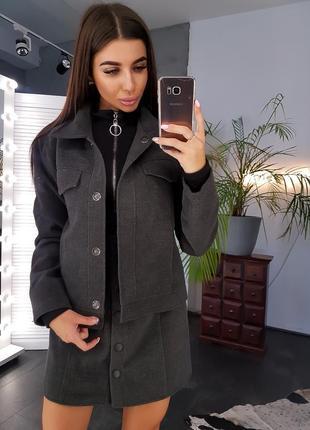 Черная кашемировая куртка пиджак на нейлоновой подкладке