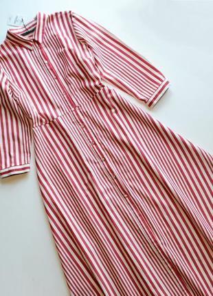 Трендовое платье рубашка в полоску zara