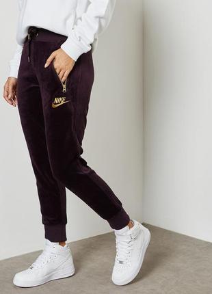 Велюровые штаны nike w nsw pant velour р. xs оригинал распродажа