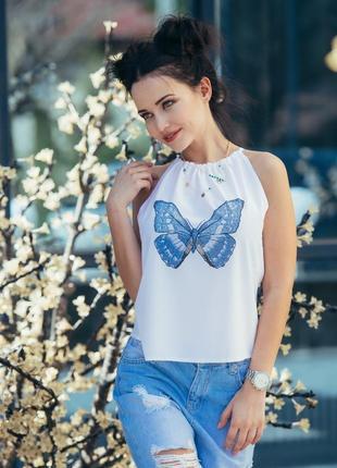Женская летняя блуза топ размер 44-46