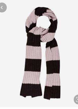 Akris punto, тёплый длинный полосатый шарф, кашемир/шёлк/шерсть!