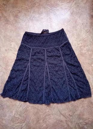 Гипюровая юбка-миди кружевная юбочка мереживна спідниця-міді