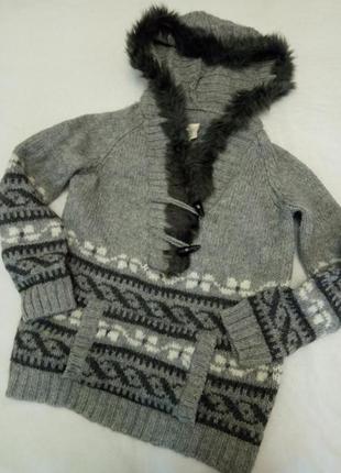 Свитер кофта кенгуру handknit