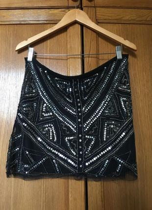 Вечерняя юбка с вышивкой бисером