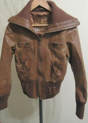 Фирменная кожаная куртка new look, р.44-46