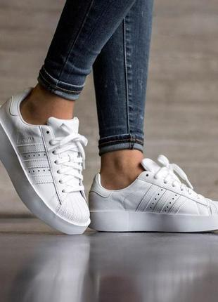 Кроссовки superstar bold white
