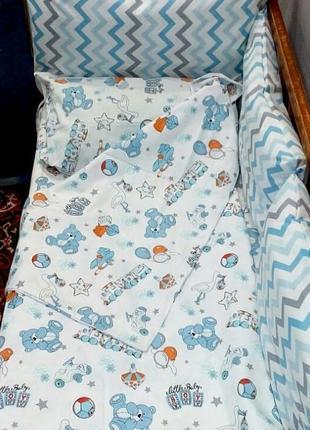 Постельное белье в кроватку( турецкий хлопок)
