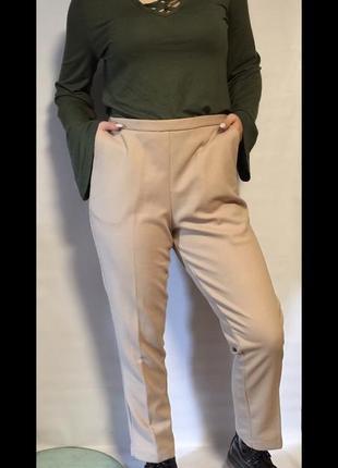 Стильные брюки в рубчик