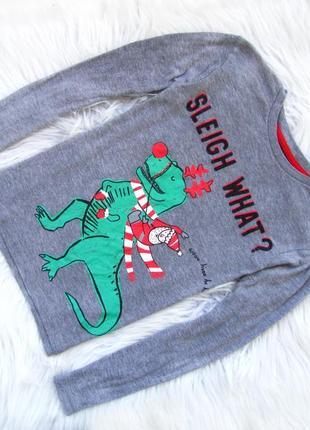 Стильный кофта george свитшот дино  новогодний свитер санта новый год