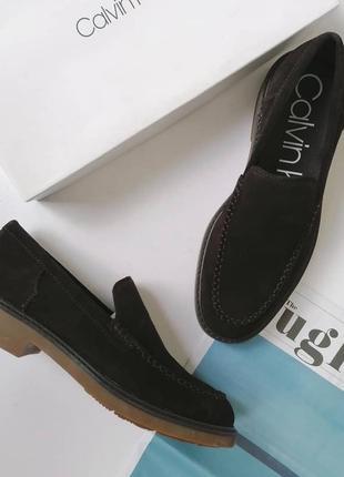Мужские туфли, лоферы из коричневой замши