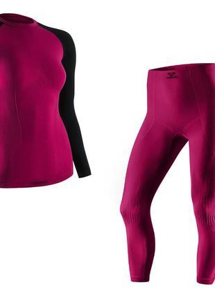 Термобелье женское спортивное tervel , комплект, зональное, бесшовное, жіночий термоодяг