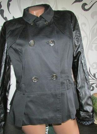 Куртка с рукавами из кожзама